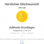 Zertifikat AdWords-Grundlagen