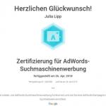 Zertifikat AdWords-Suchmaschinenwerbung