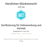 Zertifikat Onlinewerbung